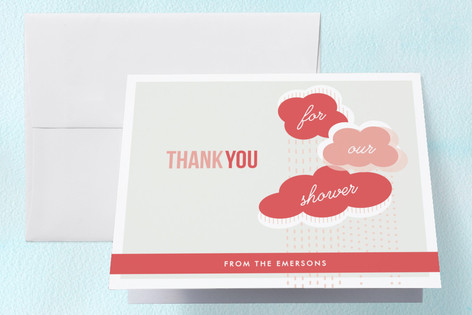 Showered with Love Baby Shower Thank You Cards