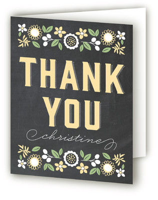 Makes Three Baby Shower Thank You Cards