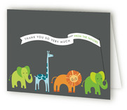 Baby Animal Parade Baby Shower Thank You Cards
