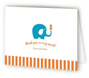 Peanut and the Elephant Baby Shower Thank You Cards