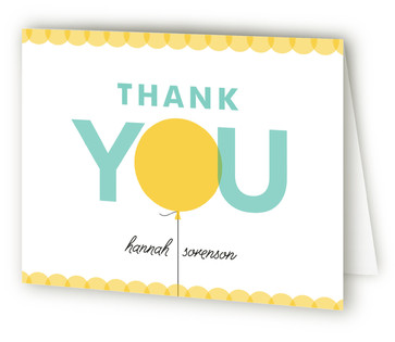 Bright Balloon Baby Shower Thank You Cards