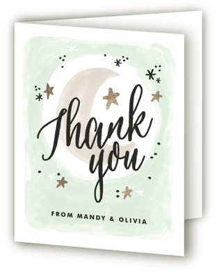 Moonlit Baby Shower Thank You Cards