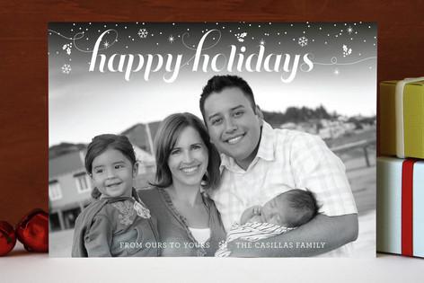 Snowfall Christmas Holiday Photo Cards