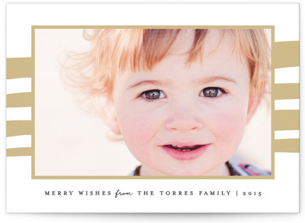 Whimsy Stripes Holiday Photo Cards