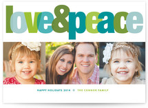 Love & Peace Holiday Photo Cards