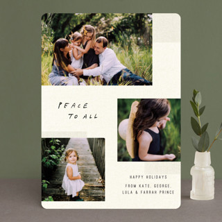 Peace is Natural Holiday Photo Cards