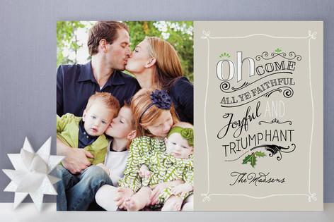 All Ye Faithful Holiday Photo Cards