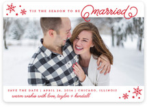 Twinkle Snowflakes Holiday Photo Cards