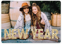 Bold Sparkle Holiday Photo Cards