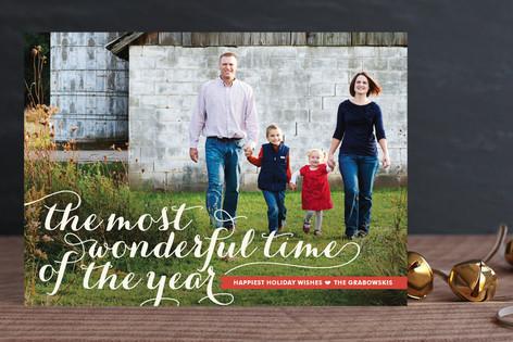 Wonderful Script Holiday Photo Cards