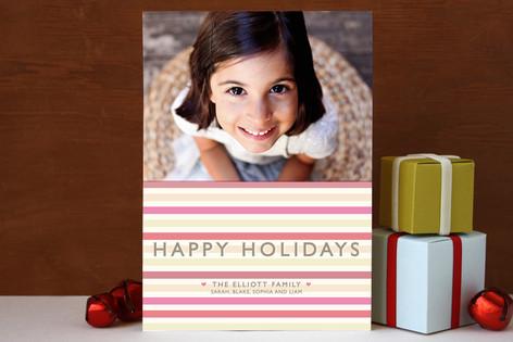 Happy Holiday Stripe Holiday Photo Cards