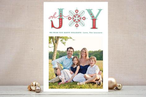 Snowflake of Joy Holiday Photo Cards