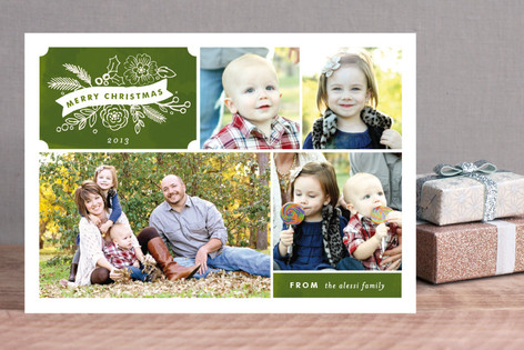 Chalkboard Label Holiday Photo Cards