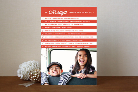 Candy Cane Countdown Holiday Photo Cards