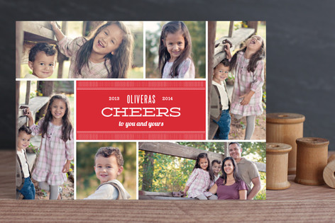 Cheer to the World Holiday Photo Cards