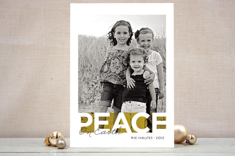Bold Noel Holiday Photo Cards