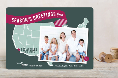 Holiday Map - West Coast Holiday Photo Cards