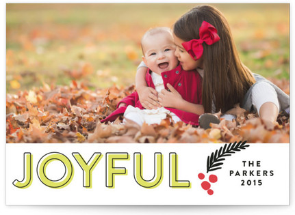 Joyful Outline Holiday Photo Cards