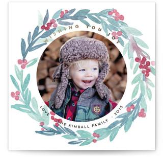 Wreath of Joy Holiday Photo Cards