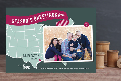 Holiday Map - Midwest Holiday Photo Cards