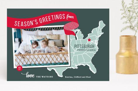 Holiday Map - East Coast Holiday Photo Cards