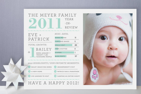 Year in Review Holiday Photo Cards