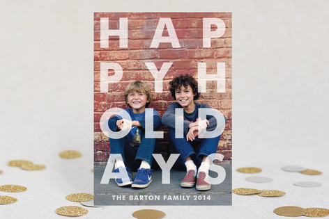 Etched Holiday Photo Cards