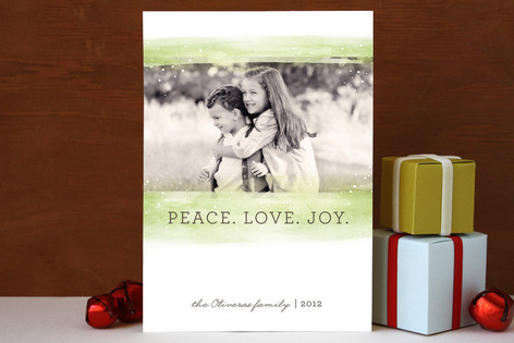Peaceful Snowfall Holiday Photo Cards