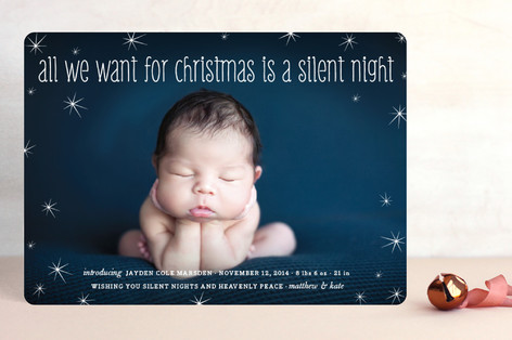 Mommy and Daddy's Wish Holiday Photo Cards