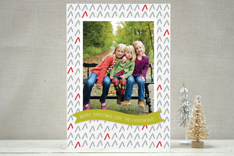 Tree Pattern Holiday Photo Cards