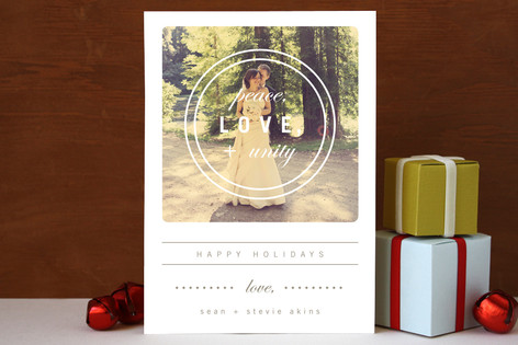 Hippie Holiday Holiday Photo Cards