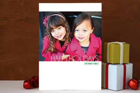 Minima Holiday Photo Cards
