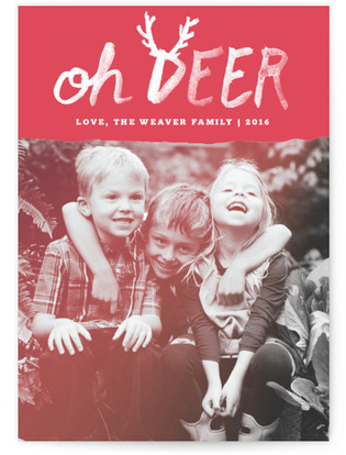 Oh Deer Holiday Photo Cards