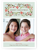 Blushing Christmas Holiday Photo Cards