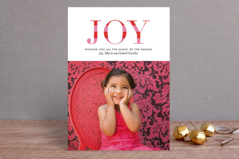 Striped Joy Holiday Photo Cards