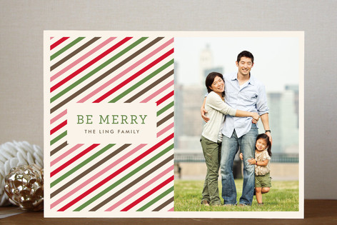 Twisted Peppermint Holiday Photo Cards