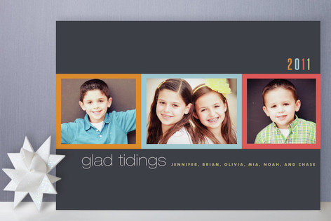 Colorful Frames Holiday Photo Cards