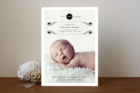 Luxe Flourish Holiday Photo Cards
