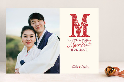 M is for Married Holiday Photo Cards