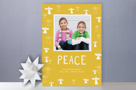 Angels and Peace Holiday Photo Cards
