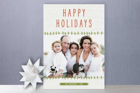 Simple Sentiment Holiday Photo Cards