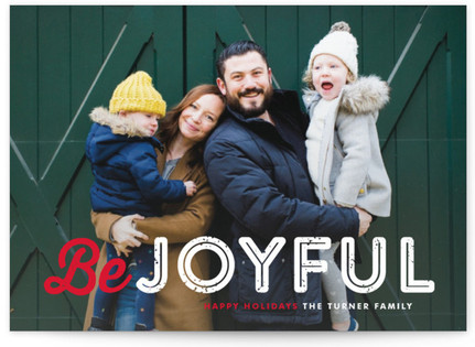 Just Be Holiday Photo Cards