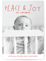 Hand Lettered Peace and Joy