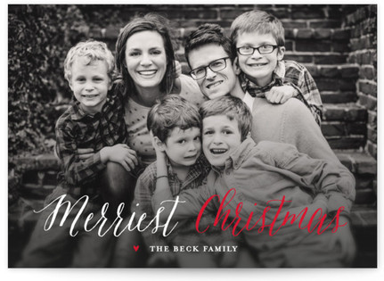 Candy Cane Christmas Holiday Photo Cards