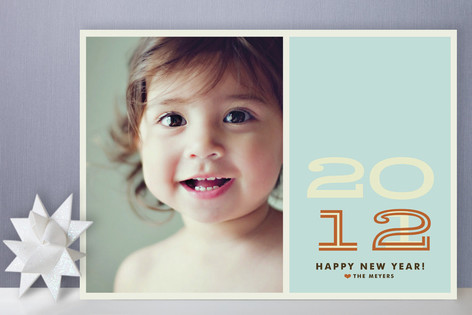 Hip New Year Holiday Photo Cards