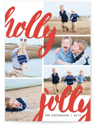 Jolly Brush Holiday Photo Cards