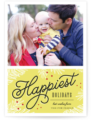 Happiest Holiday Wishes Holiday Photo Cards