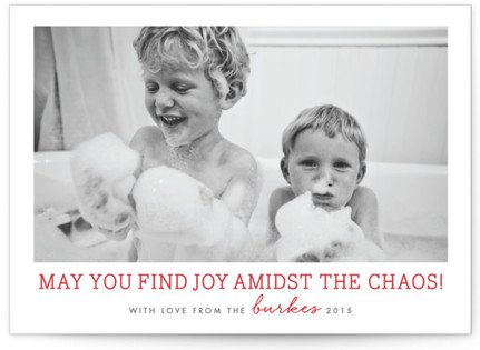 May You Find Joy Amidst the Chaos Holiday Photo Cards