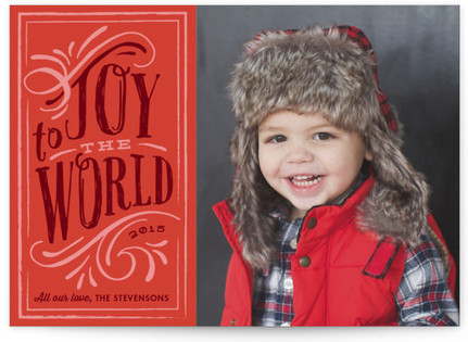 Old World Charm Holiday Photo Cards