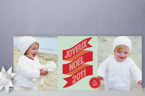 Banner + Burst Holiday Photo Cards